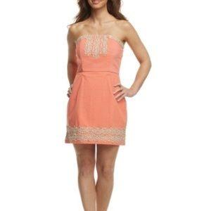 Mud Pie blakely strapless dress